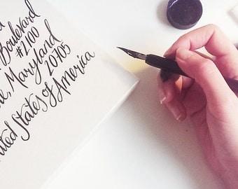 Custom Calligraphy Envelopes - Unique Wedding Stationery