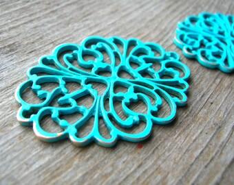 Bohemian Filigree Pendant - Filigree Findings - Boho Pendant - Jewelry Findings