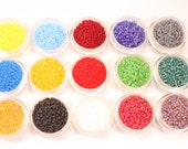 Czech Glass Seed Beads, 10/0 Seed Beads, Seed Bead Set, Seed bead Kit, 10/0 Seed Bead Set/Kit, Multi Color, 15 Colors, Matte Finish