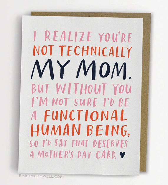 Not Technically Mom Mother's Day Card Stepmother