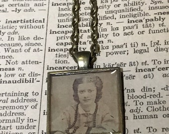 Victorian Lady Vintage Picture Steampunk Necklace