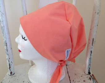Surgical Scrub Hat Solid Color Tie Back Style