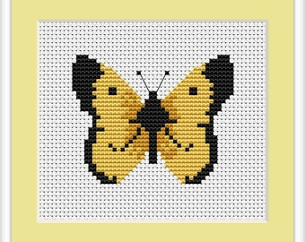 Butterfly Cross Stitch Kit By Luca S 14  Count Ideal for Beginner 7cm x 6cm