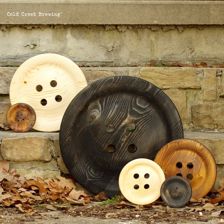 Giant Button Wall Decor Big Wooden Buttons 4 By
