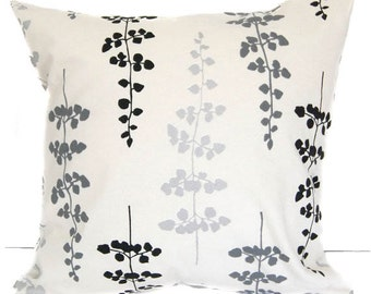 Pillow Cover, Pillow Sham, Cushion Cover, black gray silver ivory throw pillow cover home decor