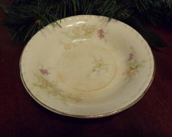 "Crooksville China Spring Blossom Dessert Bowl  5 1/4"" Diameter  (T)"