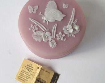 """SALE, Vintage pink  Incolay stone musical jewelry box, Home Decor, """"Born Free"""", LIving and Home, gift idea"""