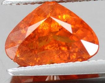 4.20 Ct. Natural Loose Faceted Loose Gemstone Orange Heart Spessartite Garnet Supplies