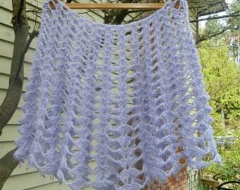 SALE! Beautiful Crochet Mohair Lace Capelet, Shawl, Shoulder Wrap.