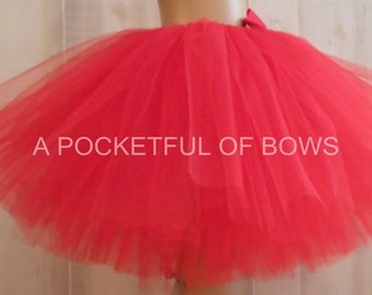 Red Tutu, Valentine Tutu, Girls Red Tutu, Birthday Tutu