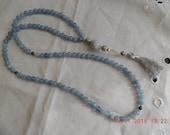Aquamarine- March birthstone. Mala 108 - Japa Mala -  Buddhist Prayer Beads -  108 bead Mala -  Mala / Necklace  Handmade