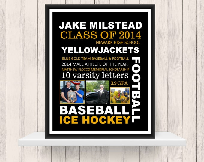 Graduation Gift - Personalized Gift - High School Graduation Party Decor - College Graduation Gift