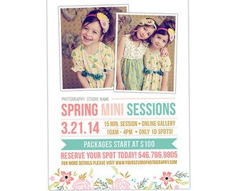 Spring Mini Session Template, Mini Session Marketing, Photography Marketing Template, Photography Marketing Board, Marketing Card - AD142