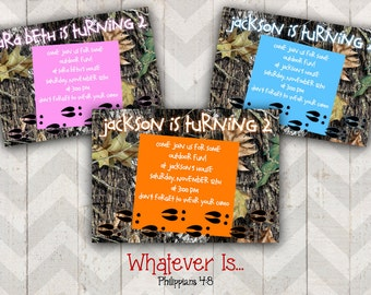 Little Deer Hunter Birthday Invitation