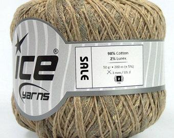 Gold camel cotton summer yarn