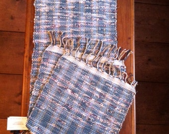 Handwoven Tablerunner and 2 Placemats