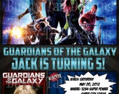 Guardians of the Galaxy Birthday Invitation