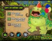 My Singing Monsters Birthday Invitations
