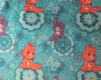 """Care Bears fleece fabric new 1 yd x 58"""" wide 100% polyester Those Character of Cleveland, Inc"""