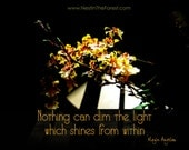 INSTANT CHRISTMAS PRESENT - Orchids in Light - flowers in light - maya angelou quote - digital download - original floral garden photography
