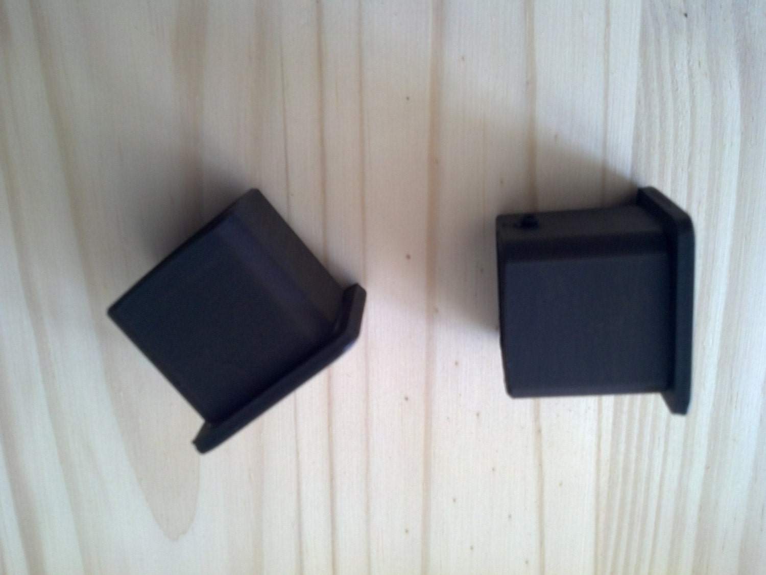 1 Pair Square Rod End Caps Iron Caps For 1 Inch Square Rod