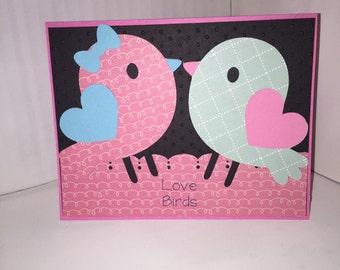 Love Birds Pun Valentines Day Card