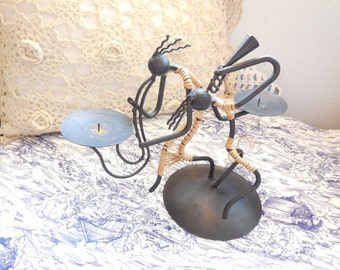 Musical African Dancer Candle Holder /Great Gift Idea/ NOT INCLUDED In Sale /New Listing