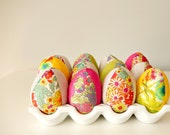 Hello Beautiful Spring!  Liberty of London fabric Easter eggs - set of 12