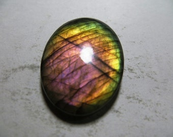 Labradorite Cabochon Gorgeous Full Flashy Amazing Fire Good Quality Oval Shape Size 27X40 mm Approx