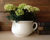 Antique White Ironstone Chamber Pot ~ Taylor Smith Taylor ~ Chester, Virgina ~ Flower Pot