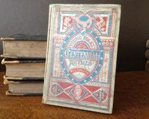 Antique 1876 ~ Rare Centennial Rhymes Book ~ Illustrated Etchings Plates ~ Folk Art