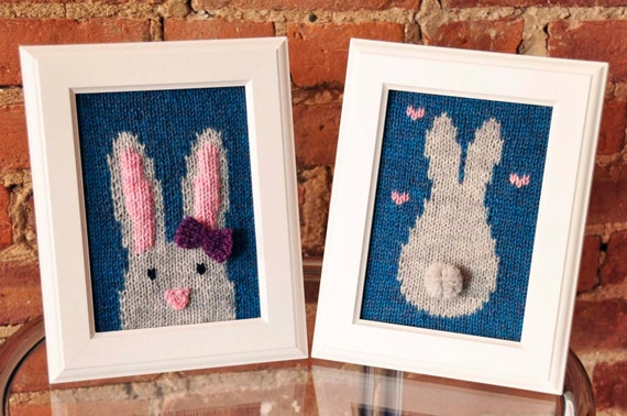 Some Bunny Loves You Knitted Wall Art Knitting Pattern