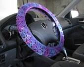 Crochet Steering Wheel Cover, Wheel Cozy - grape fizz (CSWC 8Q)