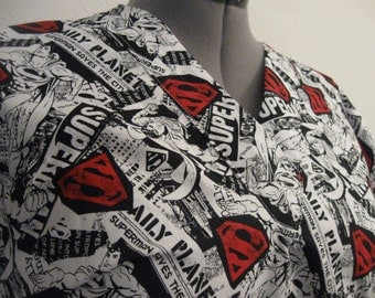 Superman scrub top