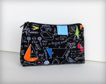 Math Equations - Makeup Bag or Pouch