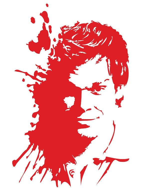Dexter Blood Spatter Decal