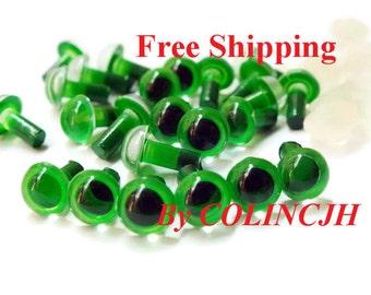 5mm Stuffed Animals eyes Amigurumi eyes Plastic eyes Colored eyes Toy eyes--green-10pairs