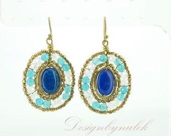 Blue lapis earring.