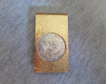 Vintage 2 Grams .999 Silver Coin Money Clip