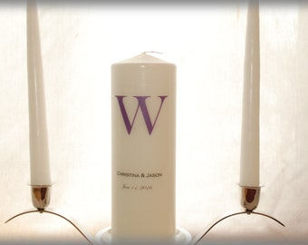 Personalized Unity Candle with Monogram, wedding candles, weddings, wedding decorations