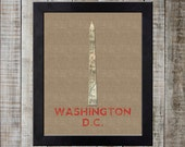 Washington D.C. USA World Landmark Print - Washington Monument