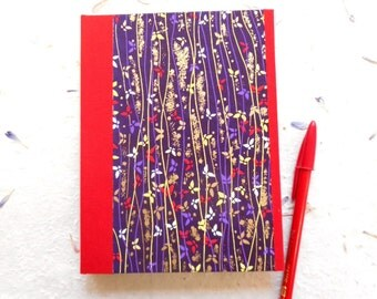 Hand-made Notepad: Blue Butterflies Chiyogami - Write in style for school or lecture notes, lists, ideas, organization.