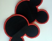 Mouse Ears Applique Iron On Knee Patch For Boys Jeans