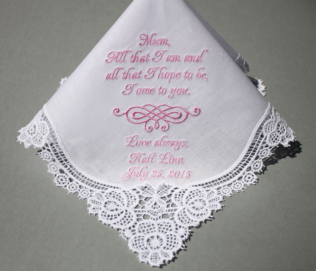 Personalized Wedding Handkerchiefs Embroidered To By Sophieli