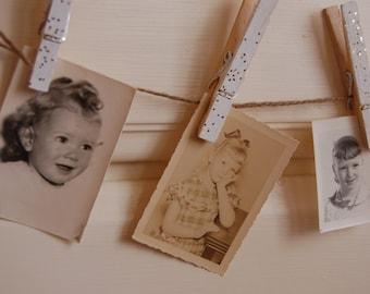 Vintage photo ephemera. Studio photo portraits. Vintage Black and white photo portraits