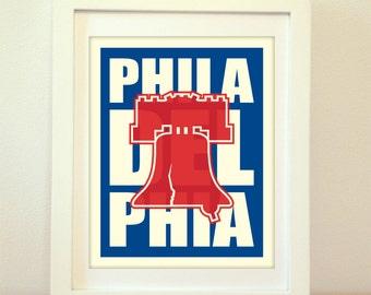 Philadelphia, Pennsylvania, Philadelphia Heart, I Heart Philadelphia, Philadelphia Art, Philadelphia Print, Typography, Liberty Bell, Philly