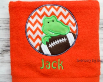 Alligator kids Bath Towel - children's bath towels- children's gifts- kids gifts - toddlers gifts  alligator towel, Gator Towel,
