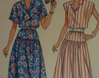 Vintage Butterick Pattern 3814 Misses' Top and Skirt    Sizes  8-10-12