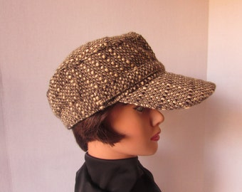 Newsboy cap/ Hat. woven polyester / wool, Newport News Brand  fully lined