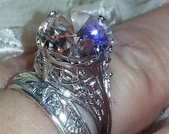 Edwardian Engagement Ring - Art Nouveau Engagement Ring - Old European Cut Engagement Ring